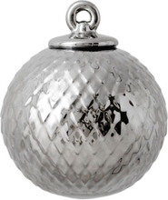 Lyngby Porcelæn - Rhombe Decoration Bauble Ø7 cm, Silver