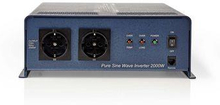 Nedis Strömväxelriktare, ren sinusvåg   12 V DC - 230 V AC   2 000 W   2x Schuko-uttag
