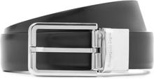 3cm Black And Dark-brown Reversible Leather Belt - Black