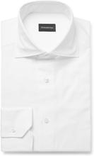 White Cotton Oxford Shirt - White