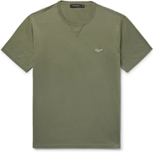 Logo-embroidered Cotton-jersey T-shirt - Army green