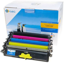 G&G Tonerkassette erstatter Brother TN-230BK, TN-230C, TN-230M, TN-230Y Kompatibel Sort, Magenta, Cyan, Gul 2200 Sider