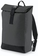 Reflective Roll-Top Backpack Black Reflective