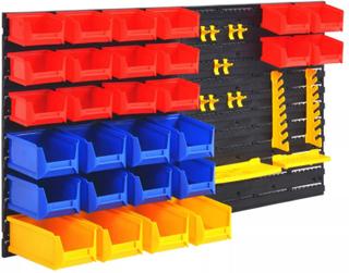 vidaXL vægmonterbar værktøjsorganisator til værkstedet