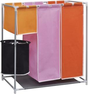 Vidaxl tvättsorterare i 3 sektioner med en tvättkorg