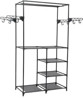 vidaXL tøjstativ stål og uvævet stof 87 x 44 x 158 cm sort