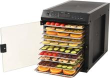 vidaXL fødevaredehydrator rustfrit stål 11 bakker 480 W sort