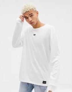 Levi's - Line 8 - Långärmad t-shirt - White with black log