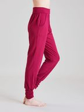 Asquith Long Harem Pants -bambuhousut (Beetroot)