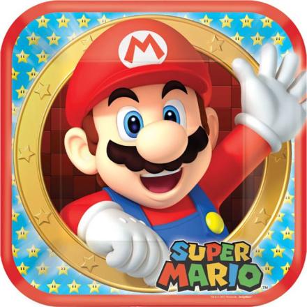 Super Mario - Papptallerken 8pk