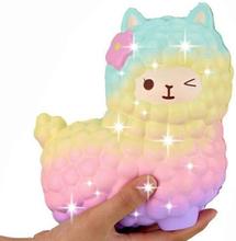 jumbo sheep alpaca squishy cute galaxy slow rising animal squishy smooshy mushy squish wholesale exquisite kids gift