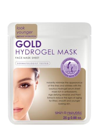 Gold Hydrogel Face Mask