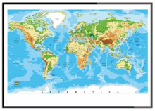 Världskarta poster (21x30 cm)