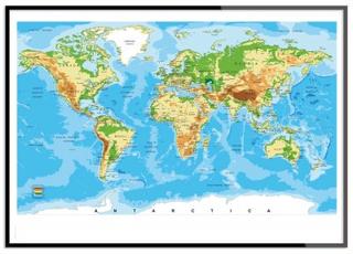 Världskarta Original (21x30 cm)