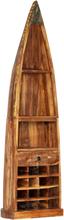 vidaXL Vinställ 50x40x180 cm massivt återvunnet trä