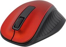 DELTACO trådløs optisk mus, 1200 DPI, rød
