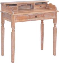 vidaXL Skrivbord 90x50x98 cm massivt mahognyträ
