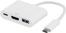 USB-C till Multiadapter Vit