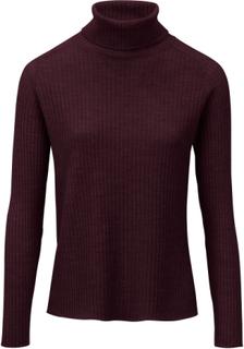 Polotröja i 100% ren ny ull – Biella Yarn från Peter Hahn röd