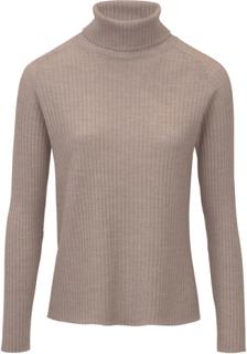 Polotröja i 100% ren ny ull – Biella Yarn från Peter Hahn beige