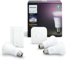 Hue Color 3 x E27-ljuskällor Starter Kit - Richer Colors + Switch