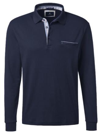 Poloshirt lange ærmer Fra Pierre Cardin blå