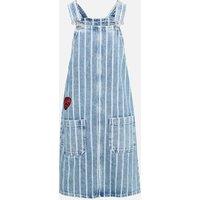 Dungaree klänning i denim - Multi