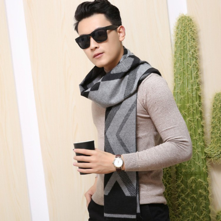 Men Scarves Winter Casual Warmth Thickening Scarf