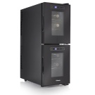(99) Tristar Double wine cooler 2 Temperature zones Black