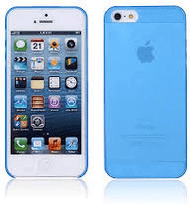 Frostat plast skal till iphone 4/4s - blå
