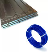 Gulvvarme til lav byggehøjde - pladepakke med pexrør til 6 m²