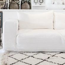 Ibiza pellava sohva XL | 330cm - Valkoinen
