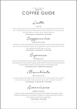COFFEE GUIDE - Poster 50x70 cm