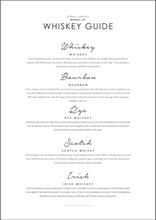 WHISKEY GUIDE - Poster 50x70 cm