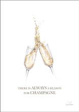 HAND-PAINTED CHAMPAGNE QUOTE - Poster 50x70 cm