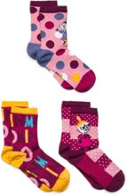 Joy Socks 3pack Sokker Strømper Rosa Mumin