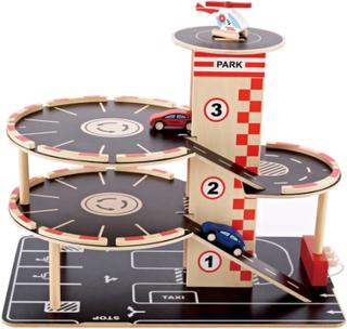 Hape parkeringshus med biler - Park & Go Garage