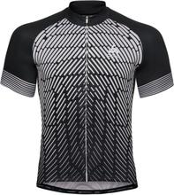 Odlo Stand-up collar s/s full zip FUJIN PRINT M Black/Odlo Silver Grey