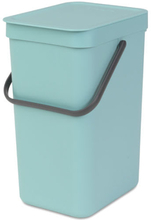 Brabantia affaldsspand - Sort & Go - Mint