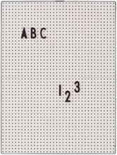 Design Letters - Design Letters Opslagstavle A4, Grå