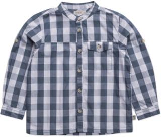 Shirt Axel Ls Skjorte Blå Wheat
