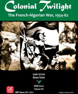 Colonial Twilight Brettspill The French-Algerian War 1954-62