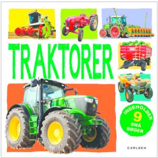Traktorer - i boks med 9 bøger - Papbog