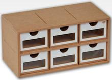 Hobbyzone Module OM01a 6x Drawers 6 skuffer med vinduer - 30 cm