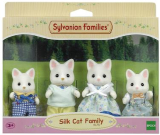 Sylvanian Families Silk Cat Family #4175