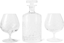 Barwell Cut Crystal Brandy Set - Clear