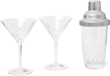 Barwell Cut Crystal Martini Set - Clear