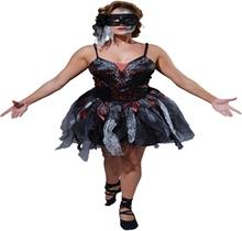 Voksen Død Ballerina Halloween Kjole(Str. 16-18 / L)