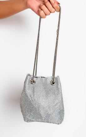 IKRUSH Womens Nova Diamante förskönat axelväska Silver 1SZE