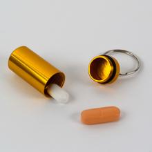 Alumiininen pillerirasia-avaimenperä, 2 kpl